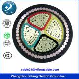 câble d'alimentation de 600/1000V 4 Core Aluminum