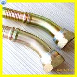 Coude 45° JIC femelle du raccord de flexible en acier au carbone 26741