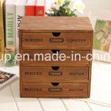 Boîte-cadeau en bois personnalisée de cadre en bois solide de cru
