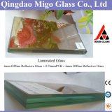 стекло прозрачного отражательного покрытия 6mm+0.76 PVB+6mm прокатанное