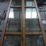 Acristalamiento doble revestimiento de aluminio Cristal puerta de entrada de madera blanca