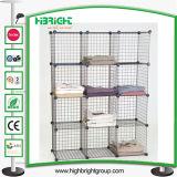 Conjunto de cubos de fio de empilhamento Closet Compartimentos do Organizador