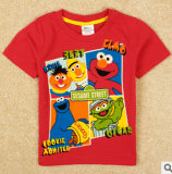 Commerce de gros Sesame Street enfants garçon d'impression de T-shirt manches courtes Tee-shirt