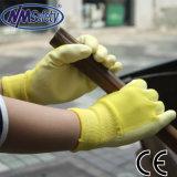 Повелительниц PU Nmsafety перчатка руки цветастых покрытых садовничая