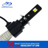 차 부속품 구리 냉각 벨트 Osram 칩 H7 LED 맨 위 빛 20W 2600lm