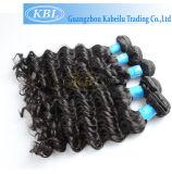 Cabelo humano profundo brasileiro do Virgin da onda 100%, cabelo brasileiro (KBL-BH)