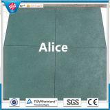 Tuile en caoutchouc carrée/plancher en caoutchouc en caoutchouc coloré de machine à paver/cour de jeu