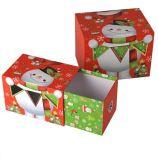 Boîte-cadeau de carton de papier d'imprimerie de Cmyk pour l'empaquetage de cadeaux de Noël