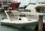 China 27ft botes inflables Semi-Rigid costilla costilla con Fueraborda