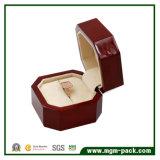 Comercio al por mayor Joyas de madera de Octagon Ring Box