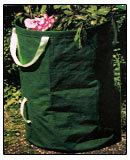 庭の袋またはプラント袋か葉袋を現れなさい