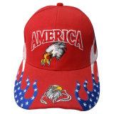 ロゴBb159の赤いニースの6つのパネルの野球帽
