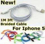 Цветастый USB Cable Nylon Fabric Braided для iPhone5
