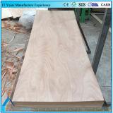 La puerta de la casa artesona la madera contrachapada de madera de la piel de la puerta de la chapa de Okume