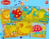 Puzzle di carta stampato animale per l'asilo
