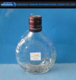 Botella de vino recipiente de vidrio para la vodka, whisky, brandy de almacenamiento