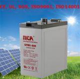 Bon Quality Solar Battery New Solar Gel Battery 2V600ah