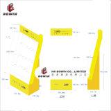 Estantes de visualización baratos de la tarjeta de felicitación de la cartulina de la promoción con los ganchos de leva