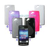 Caso di TPU con doppia figura di S per Sony Ericsson Lt15I/X12 (KMTC-4548)