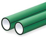 tubulação plástica da cor verde PPR de 63mm para a água fria e quente