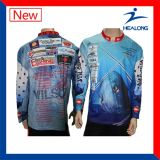 Рубашка рыболовства сублимации Sportswear сбывания Healong верхняя