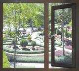Roomeyeはカスタマイズしたブラウンの二重ガラスの緩和されたガラスのアルミニウム開き窓のWindows (ACW-035)を