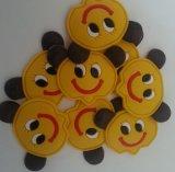 熱い塩の黄色の微笑の表面柔らかいPVC