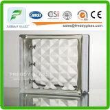 190 * 190 * 80mm Bloco de vidro colorido / bloco final / vidro Tijolo / bloco de ombro / bloco de vidro decorativo