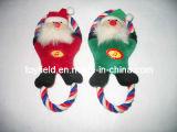 Het Product van het Huisdier van de Sleepboot van de Kabel van de Kerstman van het Stuk speelgoed van de Hond van Kerstmis