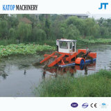 Piante acquatiche automatiche che tagliano la barca di pulizia della diga della barca