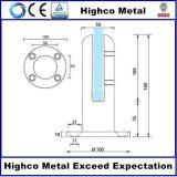 Balaustra dell'acciaio inossidabile e zipolo di vetro