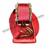 Le conditionnement sous blister polyester rouge sangle d'arrimage à cliquet avec une haute qualité 5 tonnes