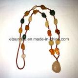 Collar cornalina ágata áspero semi preciosas Crystal piedra preciosa natural