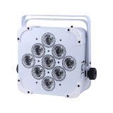 La luz de la celebración de la barra de batería inalámbrico RGBWA UV 15w 9pcs Luz PAR