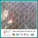 Дешевый PVC покрыл загородку звена цепи пластмассы винила гальванизированную