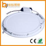 24W LED SMD2835 ligero saltara la iluminación del panel de aluminio redonda de la lámpara del techo