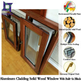 Palacio Oriente Medio sólido de madera de roble de aluminio de inclinación / vuelta a la ventana con persianas Buit-en / obturador de control remoto