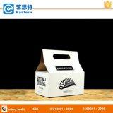 食糧パッキング波形を付けられたクラフトのハンドルの紙箱