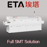 De Oven van het LEIDENE Soldeersel van de Terugvloeiing met 8 het Verwarmen Streken (E8)