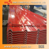 0.15-0.30mm chaud/laminés à froid des matériaux de construction en métal galvanisé prélaqué bobine/Couleur Toiture en carton ondulé en acier recouvert de feuille