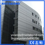 Comitato composito di alluminio del rivestimento metallico di PVDF per la parete divisoria esterna
