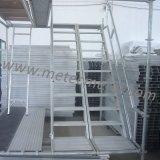 Escalera de aluminio del andamio para el andamio