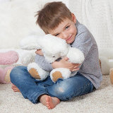 Brinquedo Ursinho de Pelúcia branco