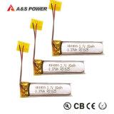 ULは3.7V円柱10160 Lipoの電池を証明する