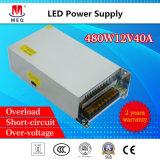 AC/DC Schaltungs-Schalter-Stromversorgung 12V 40A für LED-Bildschirmanzeige 480W SMPS