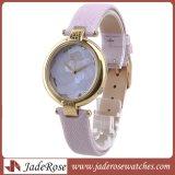 Fashio mayorista señoras reloj de cuarzo, correa de cuero mujer impermeable moda relojes, relojes de pulsera