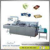 Tejido de maquinaria de embalaje caja de cartón automática máquina
