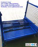 Pallet pieghevole della gabbia del metallo/impilare il contenitore di memoria