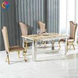 Pranzare l'oro della mobilia che vernicia intorno alla tavola pranzante Hly-St08
