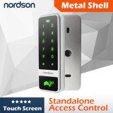 Atención independiente del tiempo de la puerta RFID del TCP/IP de Weigand de la pantalla táctil del shell del metal de la tarjeta de la gerencia sola